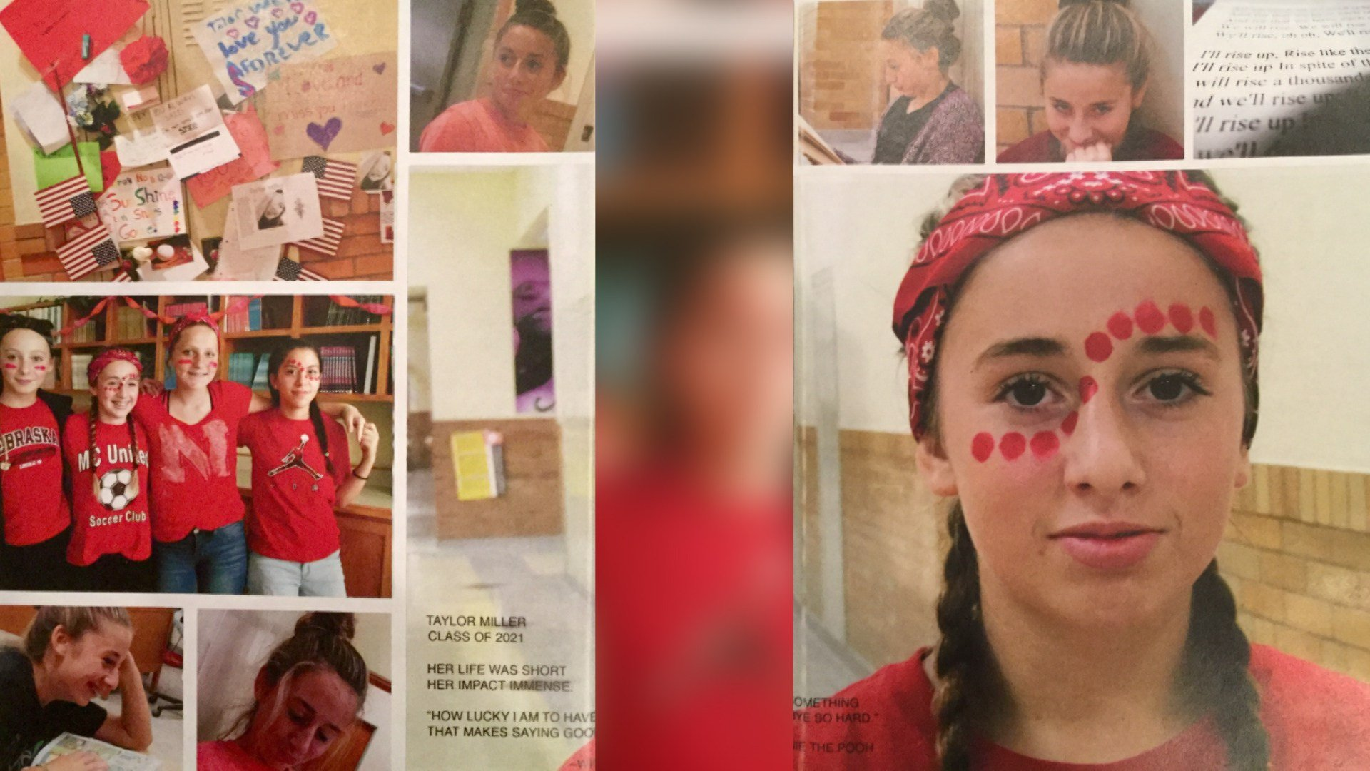 Two pages memorializing late 8th grader Taylor Miller cause Irving Middle School yearbooks to be recalled for breaking district guidelines.
