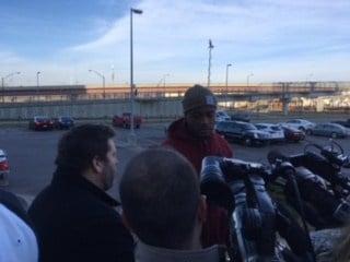 Stanley Morgan speaks to media