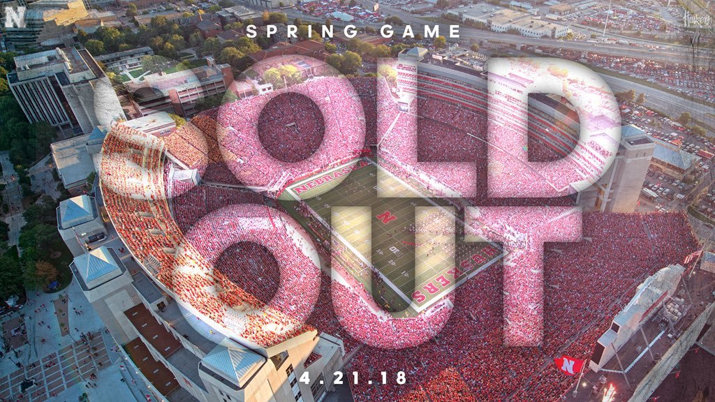Husker Spring Game Sold Out