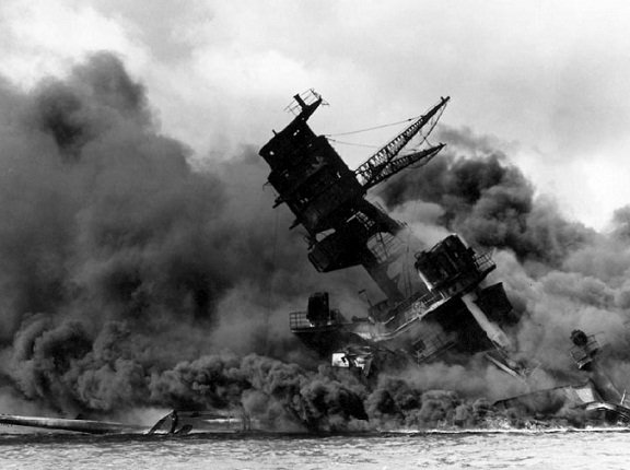 USS Arizona under attack on Dec. 7, 1941