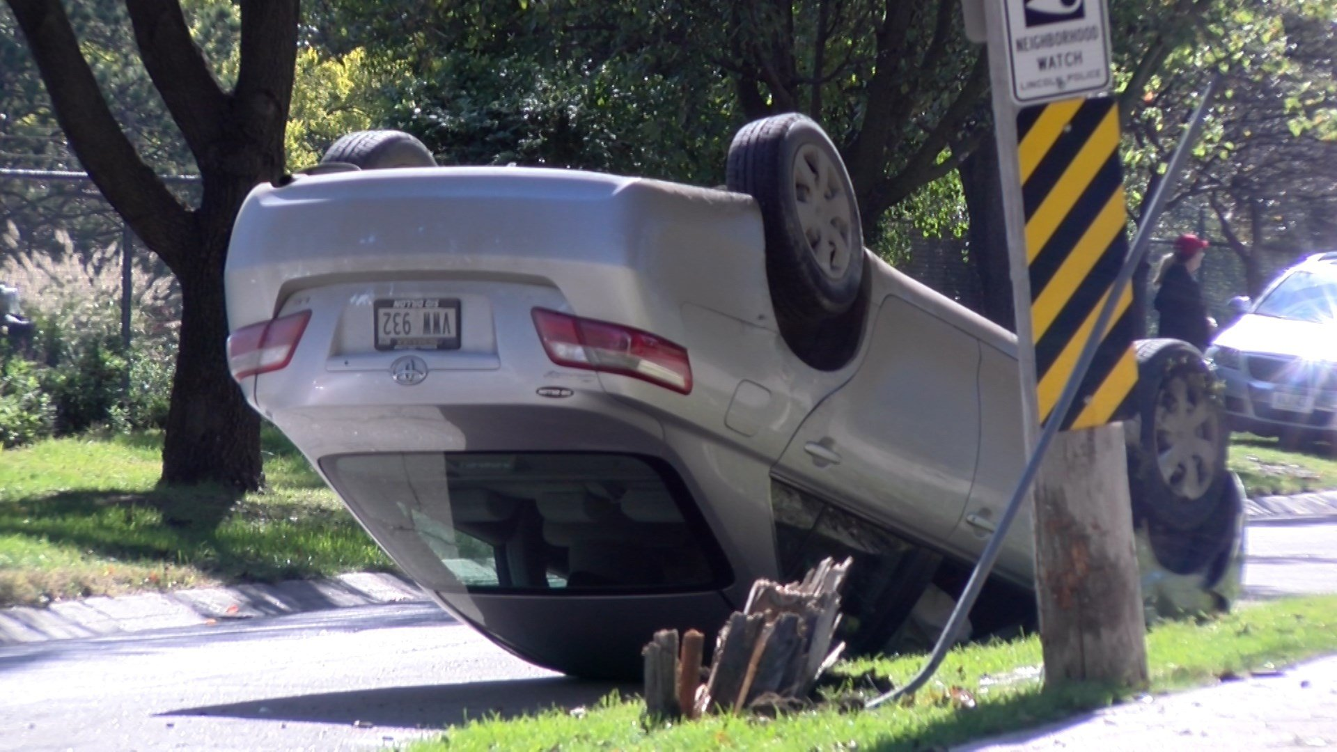Car Gets Flipped In South Lincoln Klkn Tv News Weather And