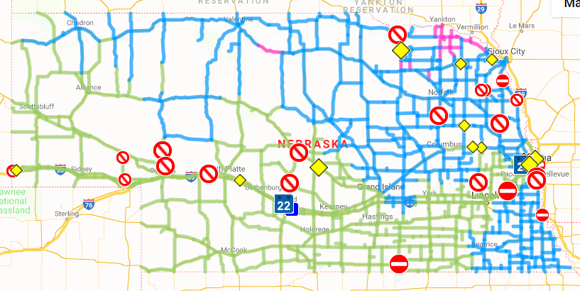 Current travel conditions across the state - KLKN-TV: News ...