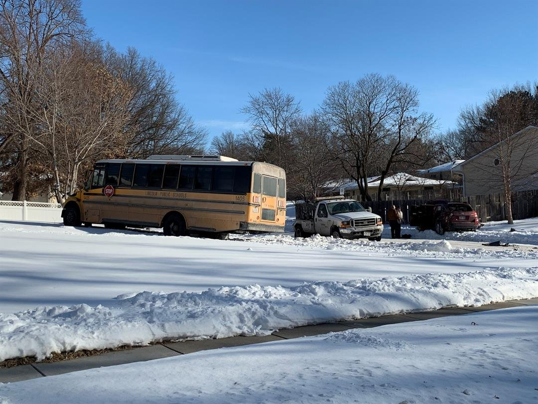 No serious injuries reported after LPS bus ends up in yard