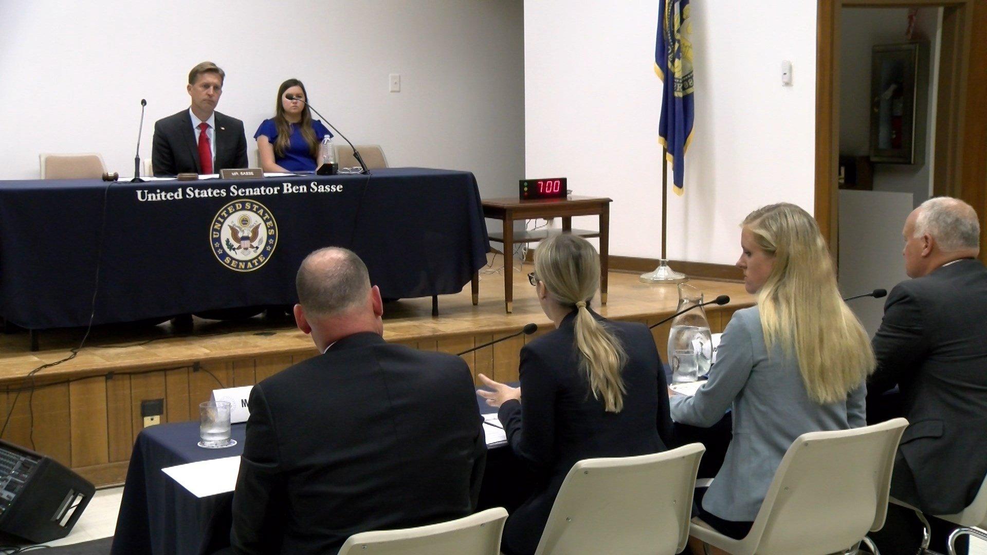 Senator Ben Sasse holds hearing about human trafficking in Nebraska