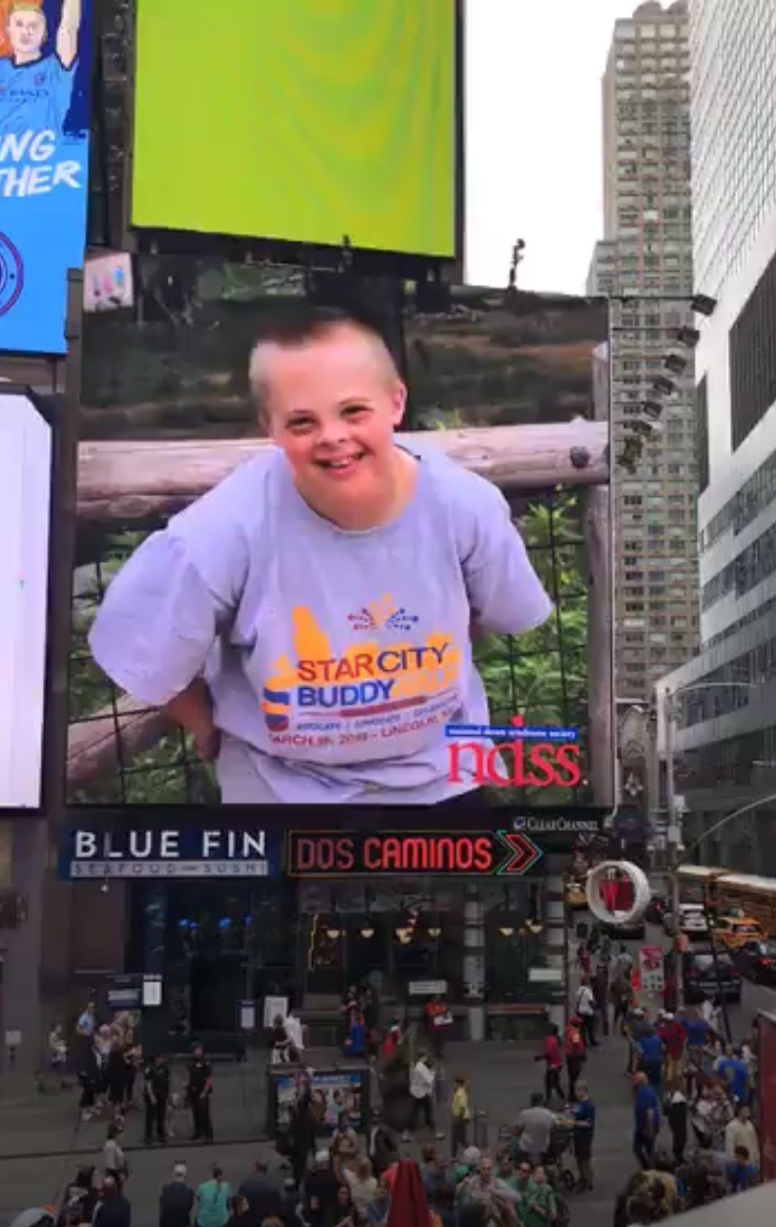 Nebraska 6th grader gets featured on Time Square big screen