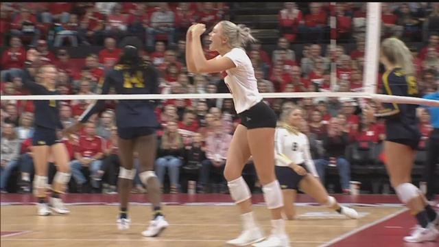 Husker volleyball keeps improving in Big Ten play
